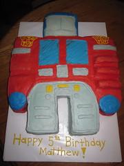 Optimus Prime birthday cake florence ky