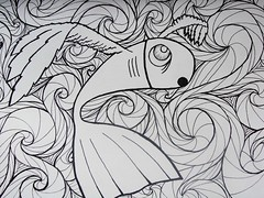 Nada é Impossível   Peixe Alado (Renan Salotto) Tags: sol mar esperança peixe asas nanquim alado iconografia prosperidade aspirais possíbilidadesassustado