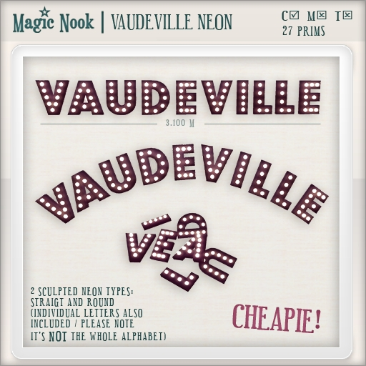 [MAGIC NOOK] Vaudeville Neon DU<3