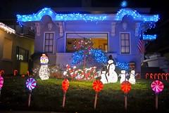 noel (pbo31) Tags: california christmas xmas holiday color america island lights snowman nikon holidays december neighborhood bayarea eastbay d200 alameda 2009 alamedacounty hhouse fernside