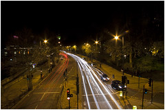 View from the bridge @ Xmas night (mostaque) Tags: london night victoriaembankment lighttrail