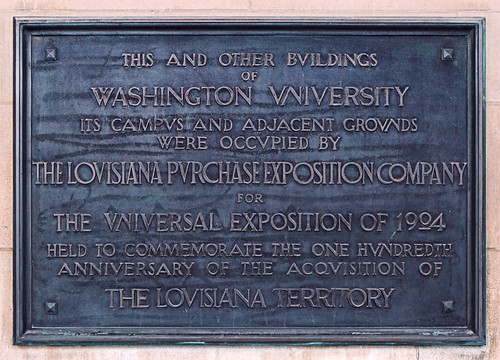 Washington University, in Saint Louis, Missouri, USA - historical plaque
