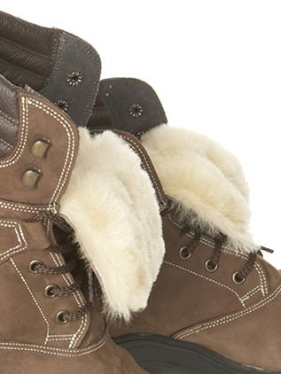 Celtic Sheepskin boots interior