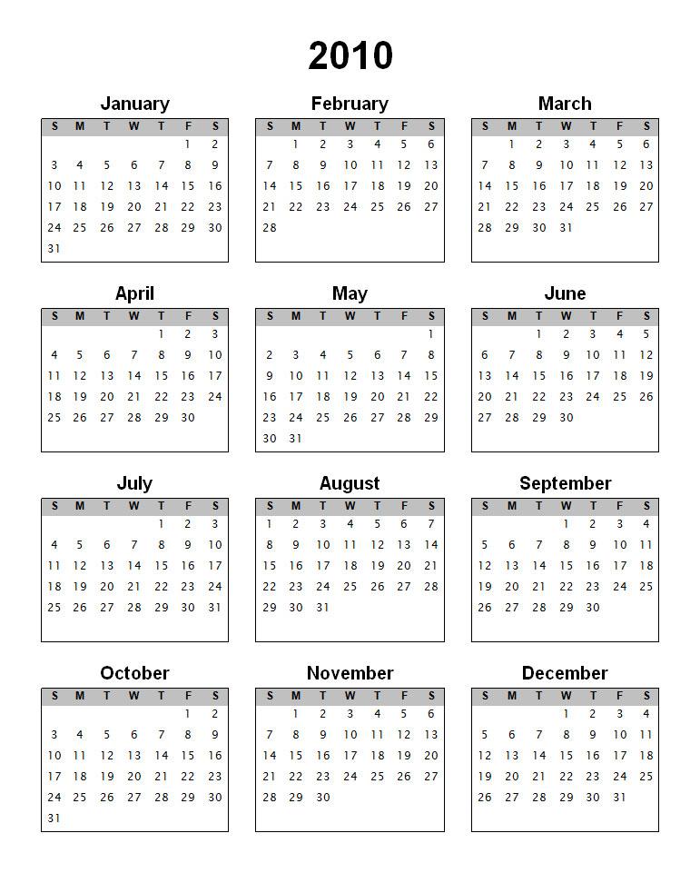 Printable 2010 Calendar - Where to Download ?! - TechPinas