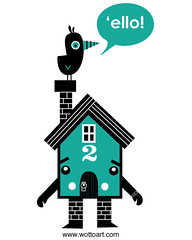 My new home sweet home (WOTTO*) Tags: house cute bird home illustration turquoise illustrator portfolio homesweethome characterdesign digitalillustration newwebsite wotto characterhouse wwwwottoartcom