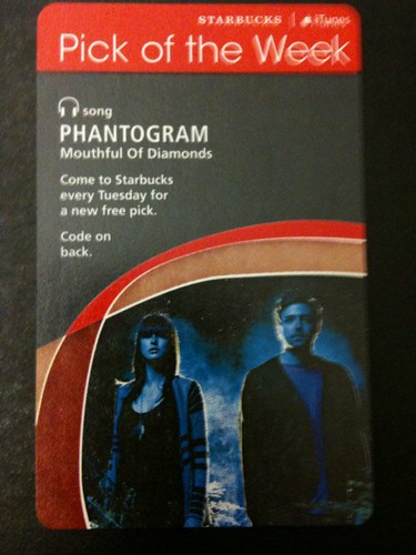 Starbucks iTunes Pick of the Week - Phantogram - Mouthful Of Diamonds #fb