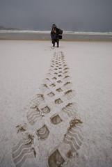 Strathy_Scotland_126 (jjay69) Tags: christmas xmas uk winter england snow cold beach coast scotland sand frost britain footprints freezing freeze coastline sutherland inthesnow strathy northernscotland coastuk