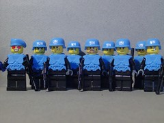 Brickforge Army (Gmolka) Tags: blue light people paper army this is gun lego un armor guns bought helmets i brickforgecom