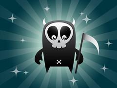Skull Boy (DeeeKeii) Tags: cute skeleton death skull bone vector grimreaper