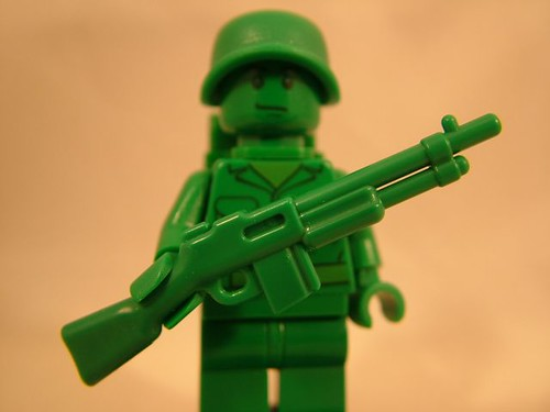 LEGO Toy Story Soldier with Green BrickArms BAR Prototype