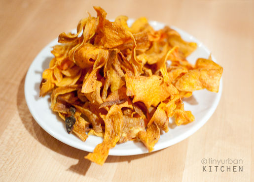 Curried Carrot chips