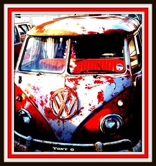 Vintage Magic (The Stig 2009) Tags: red white vw vintage o sony magic rusty tony van camper 2009 dsc stig campervan 2010 t200 thestig instantfav tonyo thestig2009