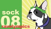 Ravelympics 2008 Sock medal