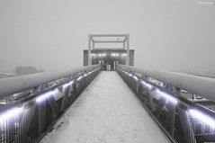 The Light of Future (Ben Heine) Tags: camera bridge winter light brussels wallpaper sky snow cold art monument nature strange architecture clouds composition photoshop poster lens landscape outside photography lights freedom photo vanishingpoint december dof lift purple belgium cloudy pov earth path lumire modernart space air hiver horizon elevator perspective creative atmosphere manipulation oxygen odd ciel libert montage future mysterious pont neige conceptual breathe froid bizarre emptiness nons vide cs4 luminosity rampe vrijheid d70nikon elevetor benheine infotheartisterycom thelightoffuture