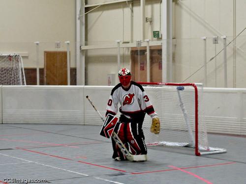Floor hockey goalie