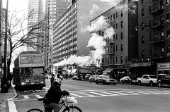 8th ave (Vjoersj) Tags: street nyc newyorkcity winter blackandwhite 35mm 8thave minoltasrt101