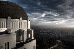 observing Los Angeles (Andy Kennelly) Tags: park city sky sunlight architecture clouds buildings la losangeles los downtown day shadows view cloudy angeles arches observatory dome griffith observing kennelly top20la ajax8055