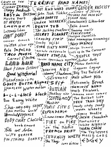 brah blog: band names