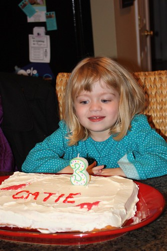Catie & her birthday cake