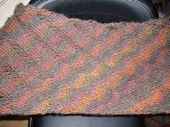 Clapotis scarf (Dutchlass) Tags: knitting dropstitch knitty clapotis