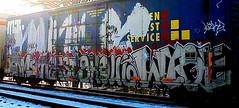 Jerms - Nekst - Ghoul - Wyse (mightyquinninwky) Tags: railroad graffiti tag graf railway tags tagged railcar graff graphiti trainart rollingstock paintedtrain spraypaintart movingart taggedtrain railroadart paintedrailcar taggedrailcar