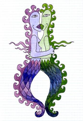 the lesbians mermaids