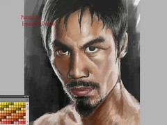 Painting Manny Pacquiao (2) (Emmanuel_D.Photography) Tags: california art digital speed canon painting asian video asia south awesome philippines east pacman boxer filipino astig cs4 mannypacquiao bestoftheworld emmanueldasalla wowimawesome