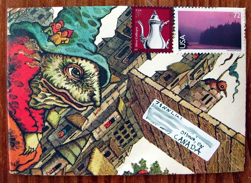 completed troll envelope, front