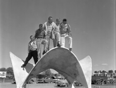 Colorado State University - Hyperbolic Paraboloid (ColoradoStateUniversity) Tags: students campus colorado archive historic mathematics collins csu civilengineering conicsection coloradostateuniversity mathematicalpattern parabolahyperbolic paraboloidfort