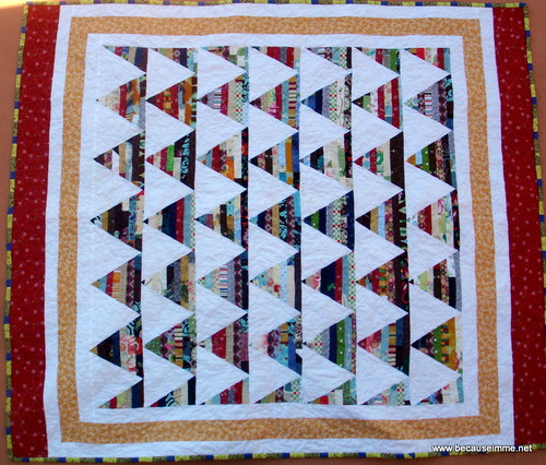 triangle strip quilt