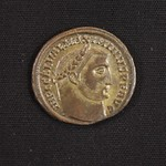 "<b>345 Obverse</b><br/> <a href=""http://en.wikipedia.org/wiki/Maximian"" rel=""nofollow""><u><b>Maximian</b></u></a> <i>Reign: AD285 - 305</i> While Diocletian was a political powerhouse, Maximian was mostly known for his military might. He campaigned heavily during his reign, fighting the Alamanni in Germania and briefly capturing the Rhineland. He abdicated at Diocletian's request in 305, but tried several more times to regain the throne throughout his life until his death in 210.  Donated by Dr. Orlando ""Pip"" Qualley <a href=""http://farm5.static.flickr.com/4039/4352106678_71f57ecbfc_o.jpg"" title=""High res"">∝</a>"