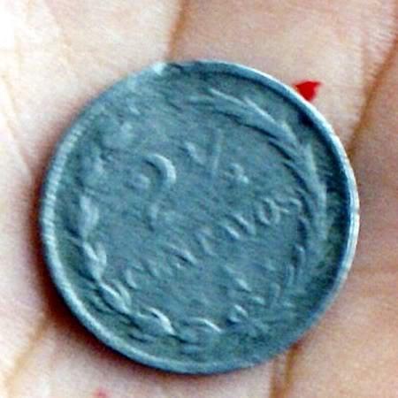 Moneda Antigua Dominicana del Año 1888