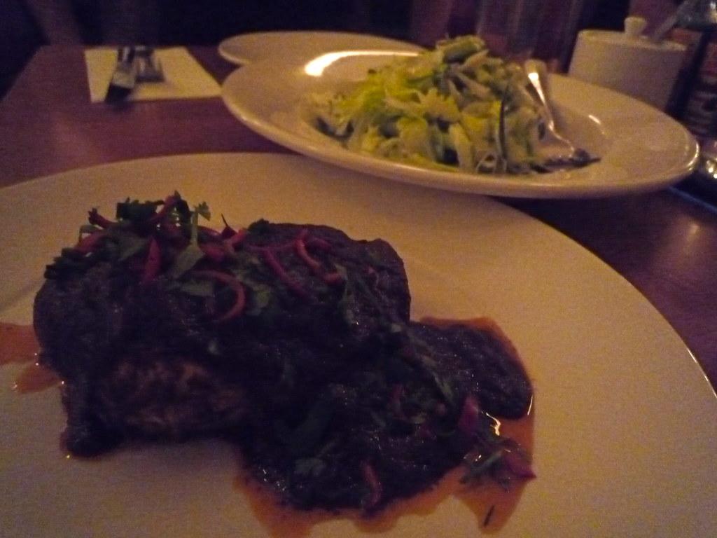 Mole poblano and ensalada verde