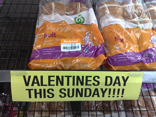 Nothing says Valentine's Day like Hot Cross Buns