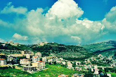 (Sanctuary photography  back ! maybe :p) Tags: houses sky lebanon mountains clouds buildings beirut aley 37washere