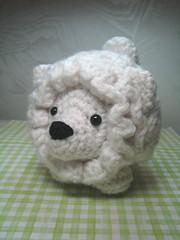 White Pudgy (AmigurumiFriendsStudio) Tags: dog pet cute animal puppy toy crochet yarn kawaii etsy amigurumi pudgy ravelry