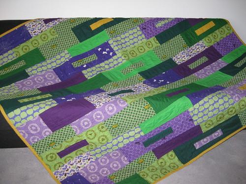 green violet quilt front