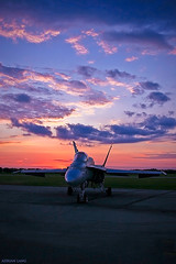 Under the Heavenly Sky... (~Clubber~) Tags: light sky canada art clouds airplane flying interesting dusk aircraft aviation military flight hornet cf18 canadianforces goldstaraward