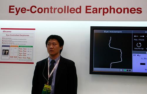 Docomo's crazy eye control headphones