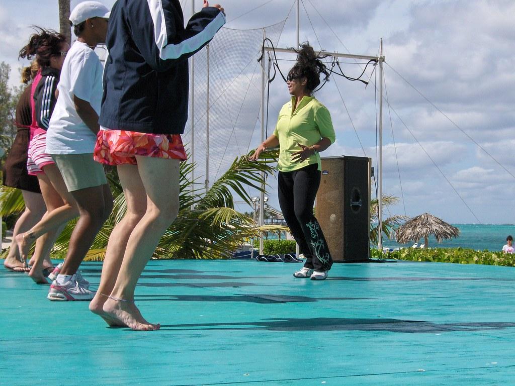Zumba class in the Bahamas