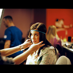 behind the set (OverdeaR [donkey's talking monkey's nodding]) Tags: 120 film fashion analog mediumformat model modeling makeup scan belgrade beograd mamiya645 1000s bowens kodakportra400nc 8019 m645 mamiya6451000s 80mmf19 labscan fujifrontier m6451000s mamiyasekorc80mmf19 behindtheset sekorc8019 sevdahbaby ina
