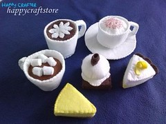 cafe 2 by happycraftstore (happycraftstore) Tags: birthday decorations food brown white cute cakes kitchen thread yellow children hearts fun lunch milk cafe play display tea handmade parties chocolates felt gifts honey sweets syrup treat grocery tarts pretend pretendplay yummilicious americanbreakfast traditionalgames umecrafts happycraftstore litlbrownbird