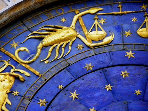 Venice - Sign Scorpio On The Clock Tower