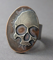 Ring a Day 59/365 (MetalRiot) Tags: silver skull copper melted 39365 rad2010 022810