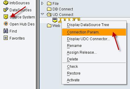 sap udconnect menu