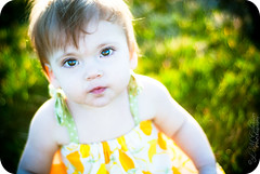 sun baby! (Linkie Lueville {lindsay}) Tags: summer baby sun girl 50mm prime photo spring nikon toddler warm shine dress picture pic photograph flare d200 nikkor 18