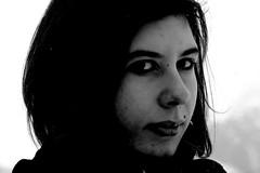 Scirocco. (gaia-) Tags: portrait white black look looking bn sguardo e seria bianco ritratto nero contrasto guardare contrst otta ottavia seriet fisso fissare