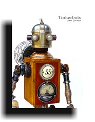 Perambulare ~ 55 (Tinkerbots) Tags: make metal vintage tin robot mechanical antique assemblage space retro steam foundobjectsculpture scifi artdeco rocket deco raygun reuse steampunk danjones perambulate tinkerbots perambulare55