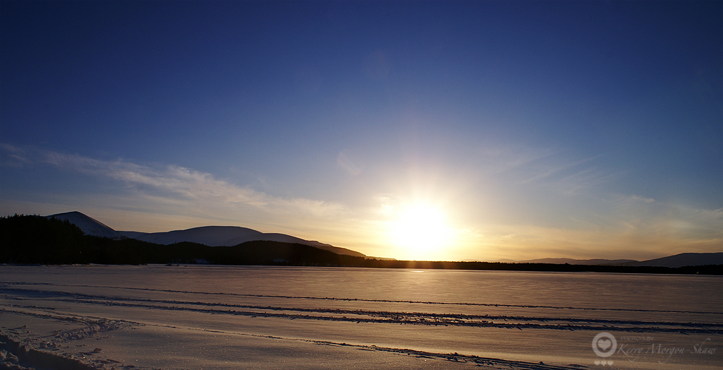 Sunset over Loch Morlich