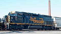 DRGW at Fostoria 2 (Lawrence of Berkley) Tags: railroad rio train ns grand tunnel denver we covered western oh motor hopper fostoria sd40t2 5475 drgw 5413 nrlx